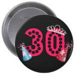 Aniversário Botão do aniversário de 30 anos da pri Boton