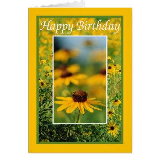 Aniversário - cartão de olhos pretos de Susans