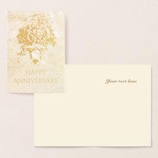 Aniversário Cartão Metalizado