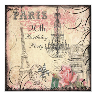 Aniversário chique da torre Eiffel & do candelabro