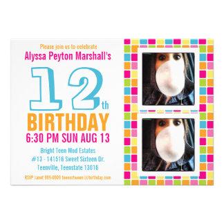 Aniversário colorido adolescente ou do adolescente