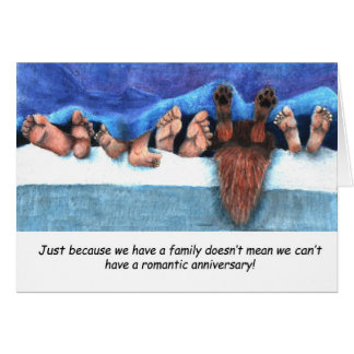 Aniversário com miúdos cartão comemorativo