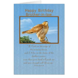 Aniversário, cunhado, cartão Áspero-equipado com