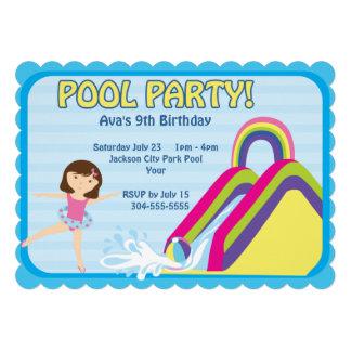 Aniversário customizável da festa na piscina