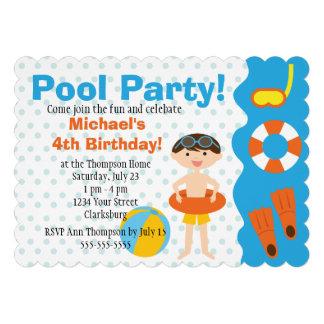 Aniversário customizável da festa na piscina do me