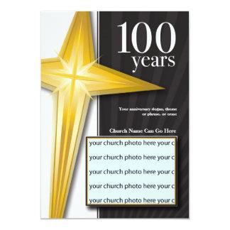 Aniversário customizável da igreja de 100 anos convite 12.7 x 17.78cm