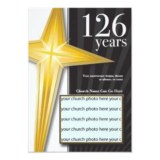 Aniversário customizável da igreja de 126 anos convite 12.7 x 17.78cm