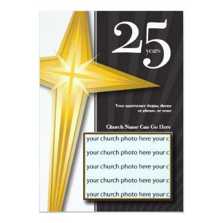 Aniversário customizável da igreja de 25 anos convite 12.7 x 17.78cm