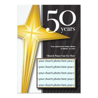 Aniversário customizável da igreja de 50 anos convite 12.7 x 17.78cm
