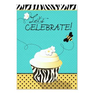 Aniversário da abelha & do cupcake do aniversário