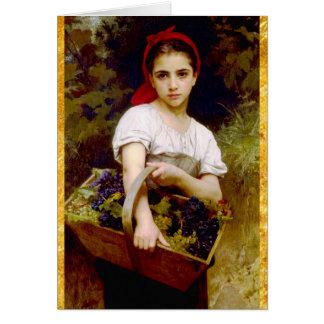 Aniversário da ceifeira da uva cartão comemorativo