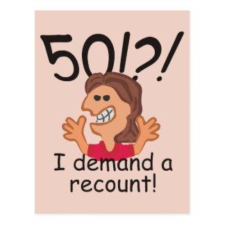 Aniversário da descrição engraçada 50th cartão postal