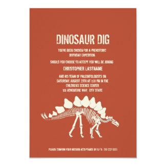 Aniversário da escavação do dinossauro