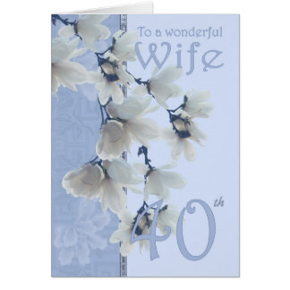 Aniversário da esposa 40 - esposa do cartão de ani