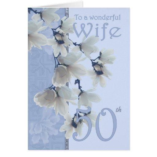 Aniversário da esposa 50 - esposa do cartão de ani
