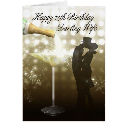 Aniversário da esposa 75 - esposa do cartão de ani