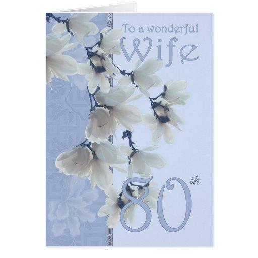 Aniversário da esposa 80 - esposa do cartão de ani