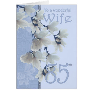 Aniversário da esposa 85 - esposa do cartão de ani