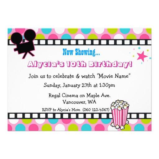 Aniversário da estrela de cinema convite