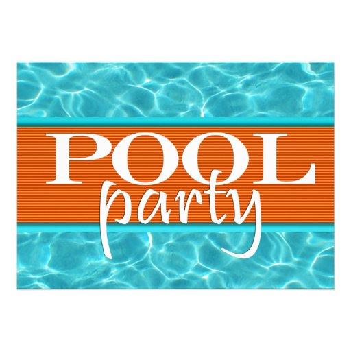 Aniversário da festa na piscina convite