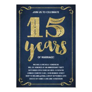 Aniversário da folha do falso da tipografia | do convite 12.7 x 17.78cm