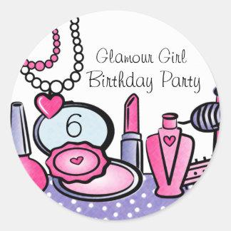 Aniversário da menina do encanto (paládio) adesivo