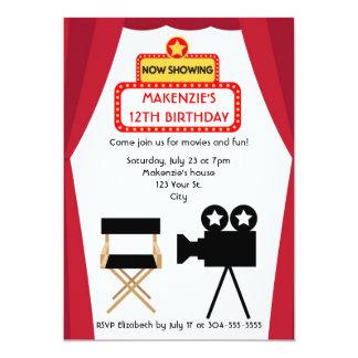 Aniversário da noite de cinema convites