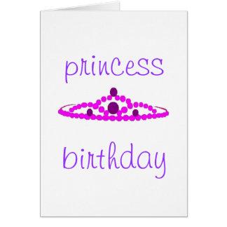 aniversário da princesa cartão comemorativo