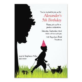 Aniversário da silhueta de Little Boy Convite Personalizado