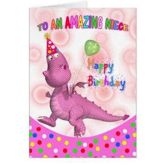 Aniversário da sobrinha com bebida e o balão cartão comemorativo