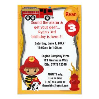 Aniversário Dalmatian FF02A do sapador-bombeiro do Convite Personalizados