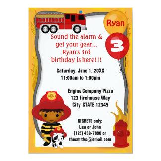 Aniversário Dalmatian FF03B do sapador-bombeiro do Convites