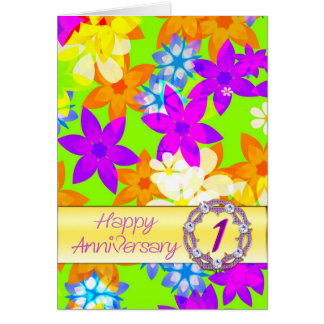 Aniversário das flores fabulosas ø para o esposo cartão comemorativo