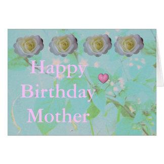 Aniversário das mães cartão comemorativo