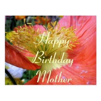 Aniversário das mães cartão postal