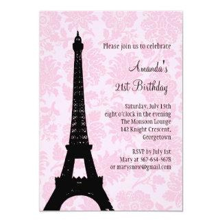 Aniversário de 21 anos em Paris Convite 12.7 X 17.78cm