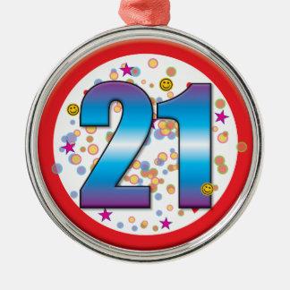 Aniversário de 21 anos v2 ornamento para arvores de natal