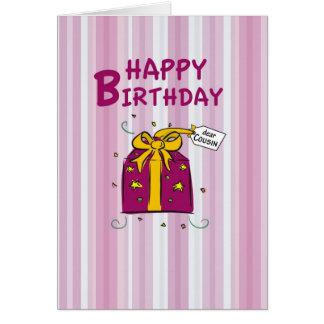 Aniversário de 3295 primos cartão comemorativo