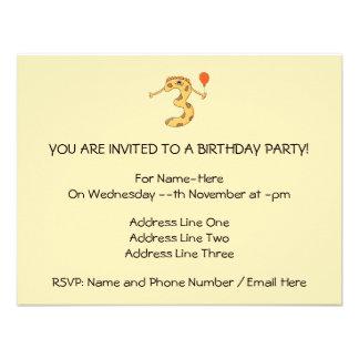 Aniversário de 3 anos Desenhos animados amarelos Convite Personalizados