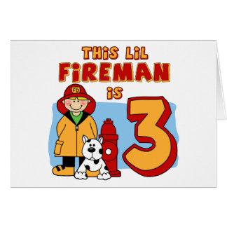Aniversário de 3 anos do bombeiro de Lil Cartao