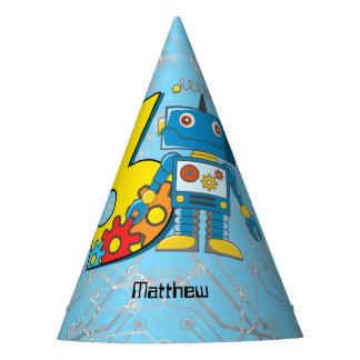 Aniversário de 3 anos do robô chapéu de festa