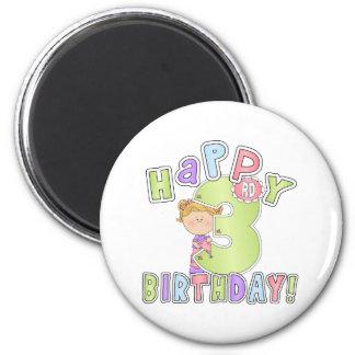 Aniversário de 3 anos feliz das meninas ima