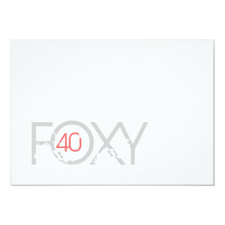 Aniversário de 40 anos - convite 40 Foxy