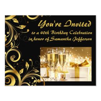 Aniversário de 40 anos do redemoinho do ouro convites