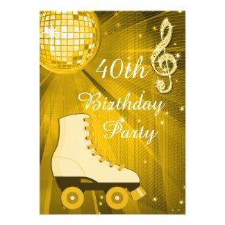 Aniversário de 40 anos dos skates da bola e de convites