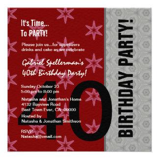 Aniversário de 40 anos engraçado não sobre o monte convite personalizados