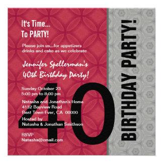 Aniversário de 40 anos engraçado não sobre o monte convites personalizado
