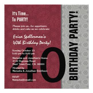 Aniversário de 40 anos engraçado não sobre o monte convites personalizados