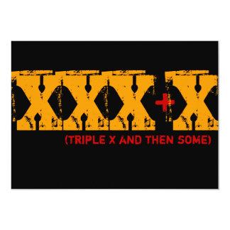 Aniversário de 40 anos - X triplo e então alguns Convite 12.7 X 17.78cm
