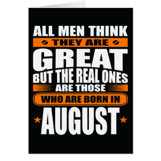 Aniversário de agosto (adicione seu texto) cartão comemorativo